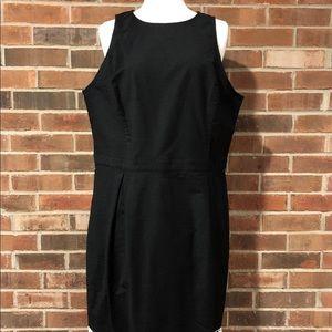 NWT Ann Taylor Women's Cotton Black Dress Sz 16T